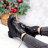 Ботинки женские Selty черные 2656 Зима, фото 7