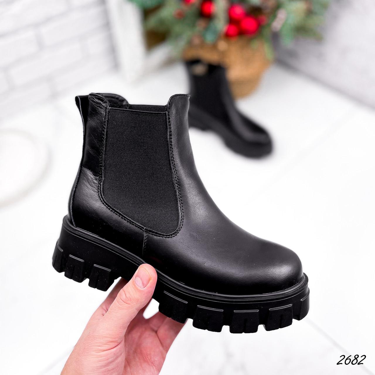 Ботинки женские Fred черные 2682 ЗИМА
