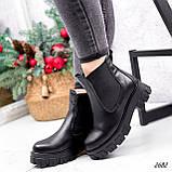 Ботинки женские Fred черные 2682 ЗИМА, фото 8