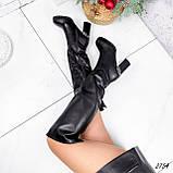 Сапоги женские ботфорты Silis черные 2754 ЗИМА, фото 3