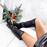 Сапоги женские ботфорты Silis черные 2754 ЗИМА, фото 4