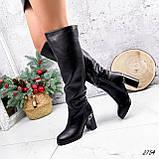 Сапоги женские ботфорты Silis черные 2754 ЗИМА, фото 10