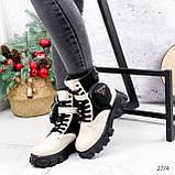 Ботинки женские Livia беж + черный 2774 ДЕМИ, фото 3