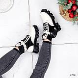 Ботинки женские Livia беж + черный 2774 ДЕМИ, фото 6