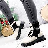 Ботинки женские Livia беж + черный 2774 ДЕМИ, фото 8