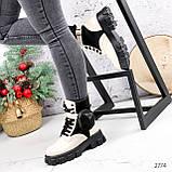Ботинки женские Livia беж + черный 2774 ДЕМИ, фото 10