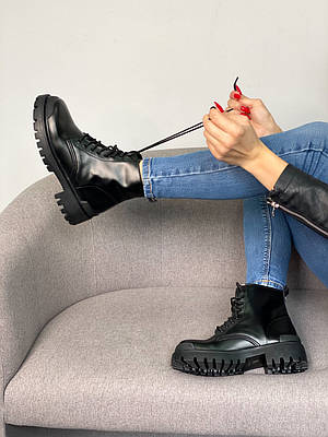 Balenciaga Strike Lace-up Boot Black (черные)