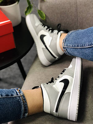 Высокие кроссовки (черные/серые)