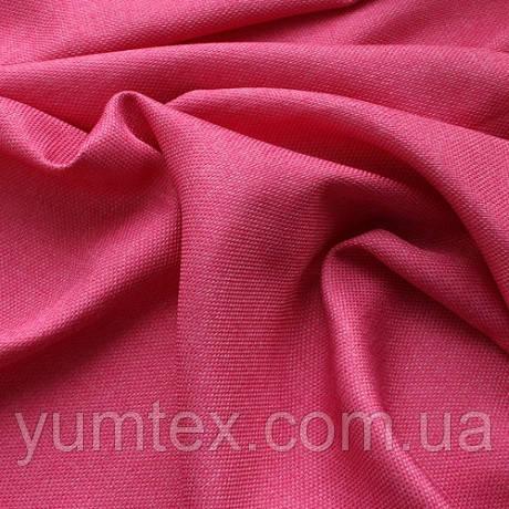 Портьерная ткань рогожка Брук (под лён), цвет розовый