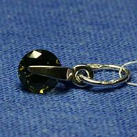 Женский кулончик из серебра с круглым камнем 3042в