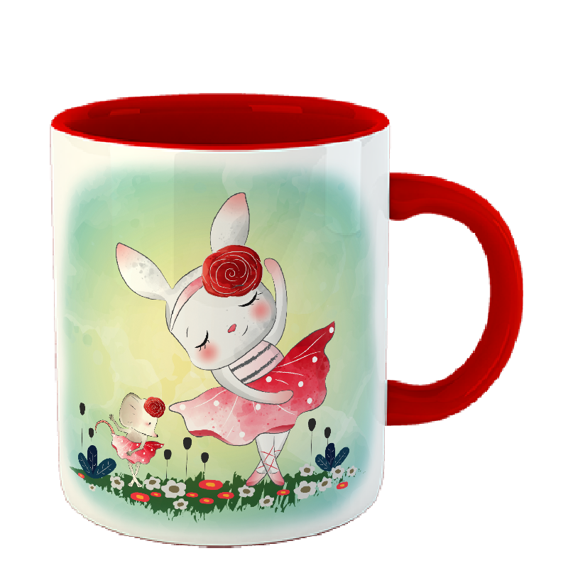 Чашка Заяц балерина