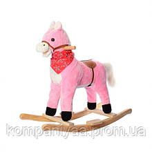 Дитяча музична Конячка-качалка MP 0086-4 (Рожевий)