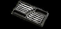 Набор ключей разрезн и трещоточн. в ложем. 10 пр. HANS TT-30, фото 1