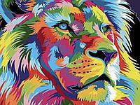 С красками и кистями Лев 60x75 см Картина по номерам