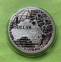 Австралія 1 долар 2021 р. Під південним небом - качкодзьоб (срібло 999 проби , 1 унція)