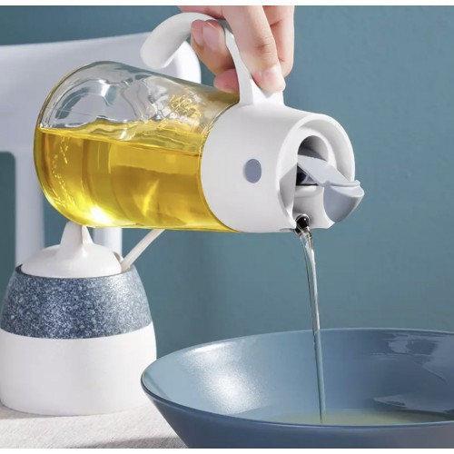 Стеклянны диспансер с дозатором для оливкового и подсолнечного масла, уксуса и т.д. 550 мл.