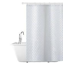 Тканинна штора для ванної кімнати 180х180см, водонепроникний матеріал Tatkraft PURL
