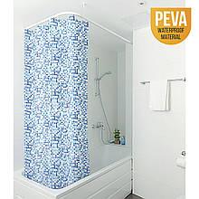 Штора для ванної кімнати PIXEL з металевими кільцями, матеріал PEVA, розмір 180 * 180