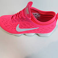 Кроссовки Найк женские ярко розовые 1410 код 175А