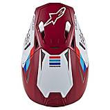 Шлем Alpinestars Red/White Supertech M8, фото 2