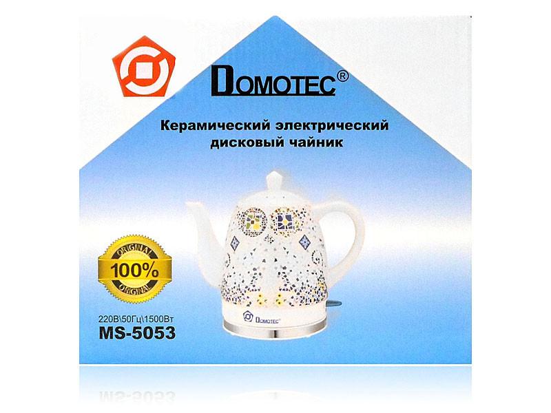 Электрочайник керамический 1,5л 1500Вт 8шт Domotec MS-5053