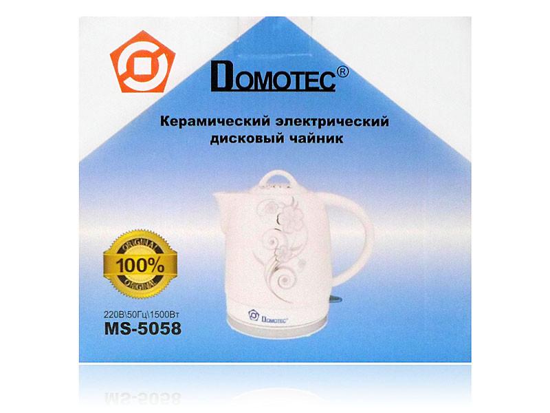 Електрочайник керамічний 1,7 л 1500Вт Domotec MS-5058