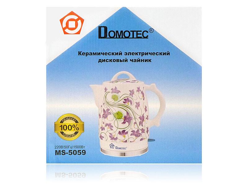 Электрочайник керамический 2,0л 1500Вт 6шт Domotec MS-5059
