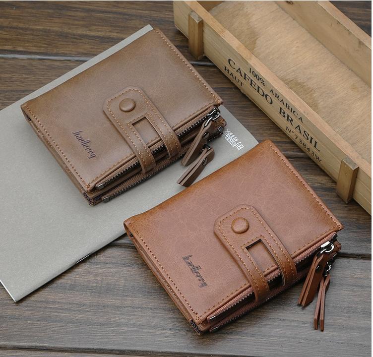 Чоловічий гаманець Baellery Meni портмоне (коричневий,сірий)