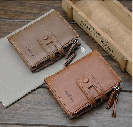 Чоловічий гаманець Baellery Meni портмоне (коричневий,сірий), фото 2