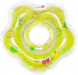 """Круг надувний з ПВХ """"KINDERENOK"""" Baby Зелене яблучко кріплення липучка+карабін 204238_001"""