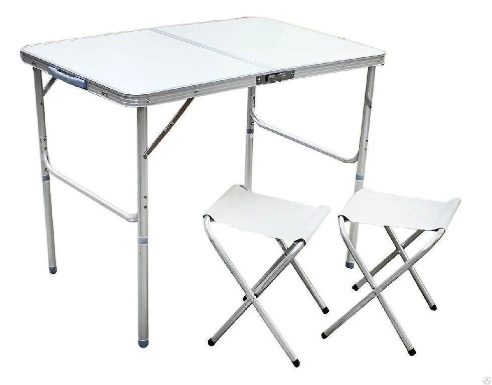Стол складной туристический для пикника + 2 стула 90 х 60 х 55 х 70