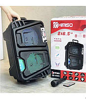 Колонка KIMISO QS-6565 BT микрофон в комплекте (6.5'BASS / W)