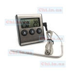 Термометр TA-026 с иглой на проводе (с сигнализацией alarm) + таймер времени