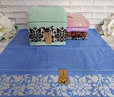 Рушник банний махровий 65х140 см розмір А-7233