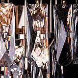 Кришталева бра на 2 лампочки (золото) P5-E1719/2W/FG, фото 2