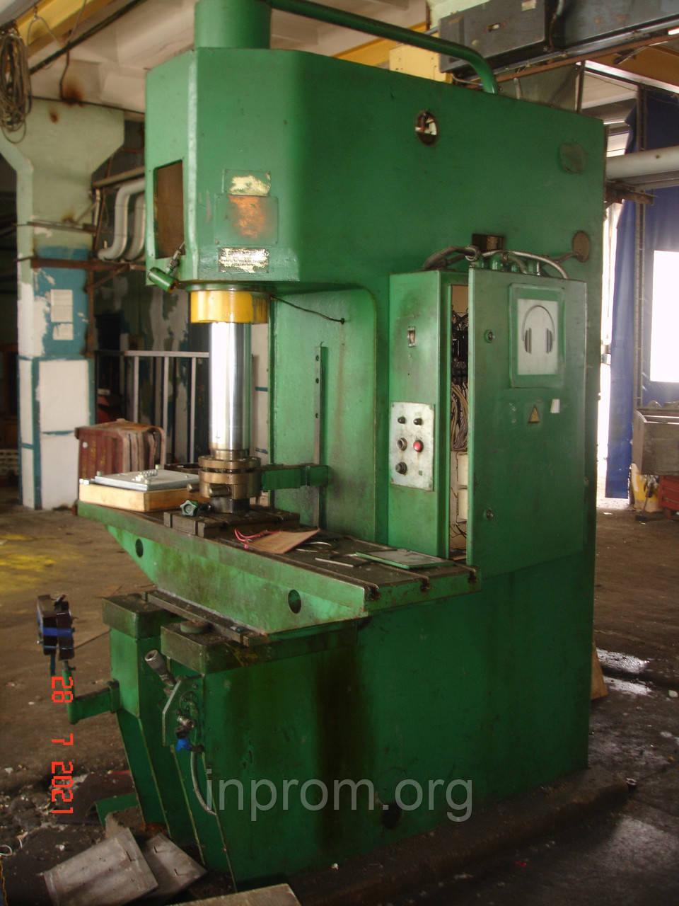 Пресс гидравлический П6126А усилием 40т
