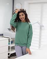 Жіночий реглан для медиків і beauty-майстрів оливковий, фото 1
