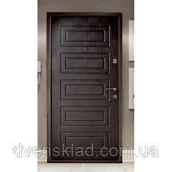 Двері броньовані. Антік - МДФ 2мм золотий дуб
