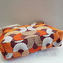 Пляжна текстильна літня сумка для пляжу і прогулянок, фото 2
