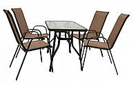 Комплект садових меблів Kontrast Majorka DUO-4 Brown