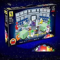 Конструктор Among Us Амонг Ас 661 деталь в наборе размер коробки 58*38*6см