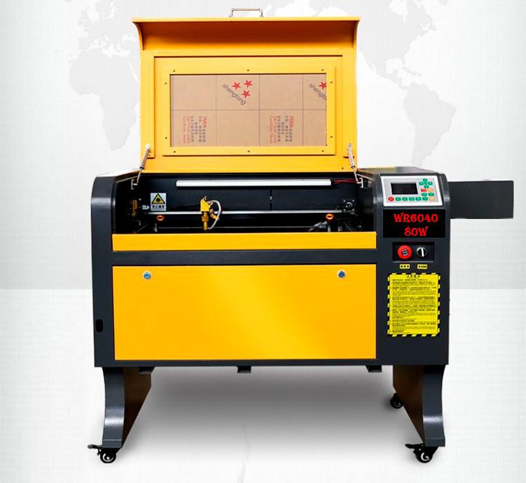 Лазерный станок 60*40 Ruida с ЧПУ гравер CO2 600*400, 80Вт Reci, 80w Лазерные станки для резки и гравировки
