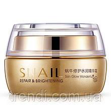 Крем для лица на основе муцина улитки и гиалуроновой кислоты Bioaqua Snail Repair & Brightening