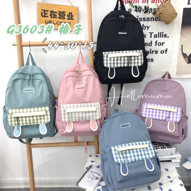 Рюкзак подростковый школьный городской стильный с ушками и накладным карманом 44*30 см в разных цветах Mark