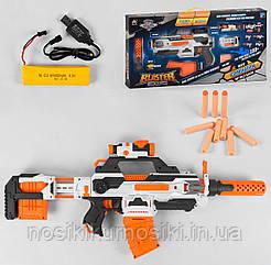 Детский игрушечный Автомат SB 206 - аккумулятор 4.8 V, 30 мягких пуль, складная мушка, прицел, глушитель