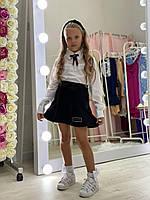 Дитяча блузка для дівчинки р. 128-152 см від 8 до 13 років з мереживом