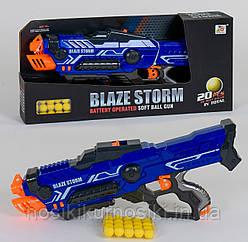 Детский игрушечный Автомат ZC 7117 - бластер, пусковой механизм на батарейках, 20 мягких пуль, в коробке