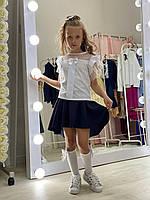Блузка з коротким рукавом для дівчинки р. 128-158 см від 8 до 14 років