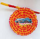 Піньята Hot Wheels хотвилс hotwheels машина машинки тачки паперова для свята барабан діаметр 30 см, фото 4