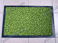 Коврик грязезащитный Узор, 60х90см., зеленый